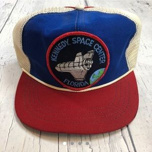 Vintage Kennedy space center SnapBack trucker hat